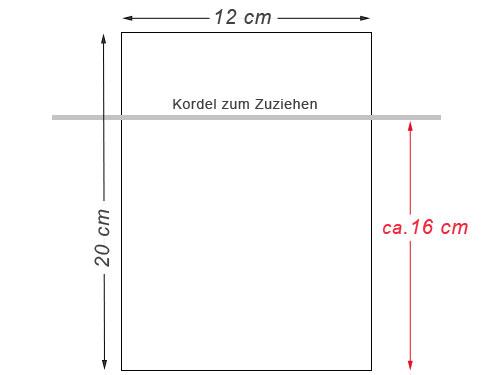 Baumwoll Säckchen 20x12 cm