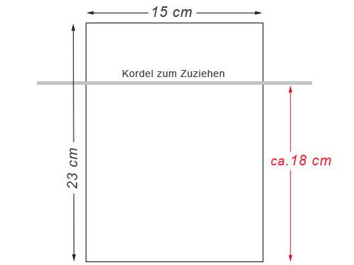 Baumwollsäckchen 23x15 cm