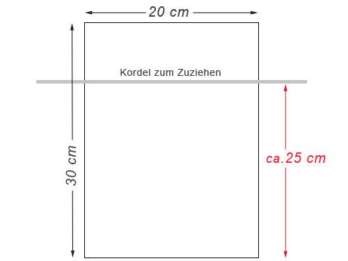 Baumwollsäckchen 30x20 cm
