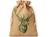 jute bag with deer motif