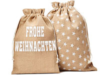 sch ne jutes ck und jutebeutel als weihnachtsverpackung. Black Bedroom Furniture Sets. Home Design Ideas