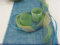 Jute ribbon and table runners