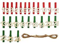 Advent calendar number sets