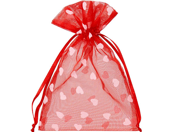 Organzabeutel mit Herzmotiv geplottet zu Valentinstag
