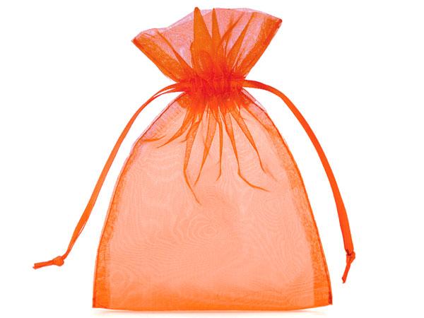 Organzabeutel Orange Geschenkbeutel