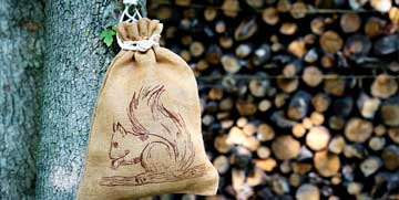 jute pouch decoration and gift packaging