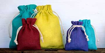 jute pouches plain color