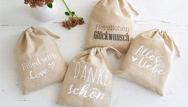 Linenbag gift packaging