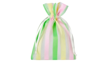 organza bag with satin stripes