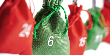 Jute bag with Advent calendar numbers 1-24